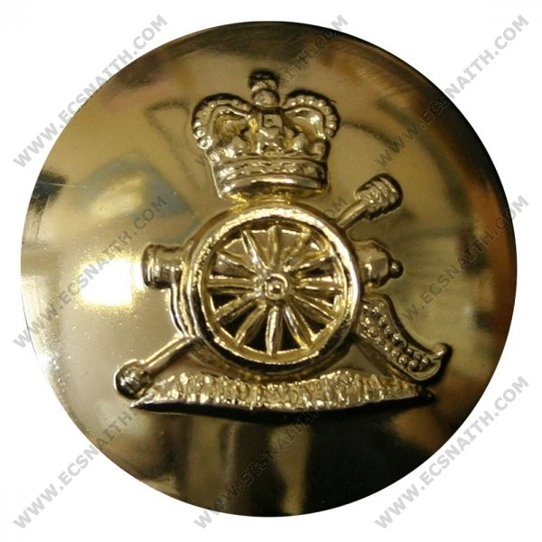 Royal Artillery Button, Anodised (26L)