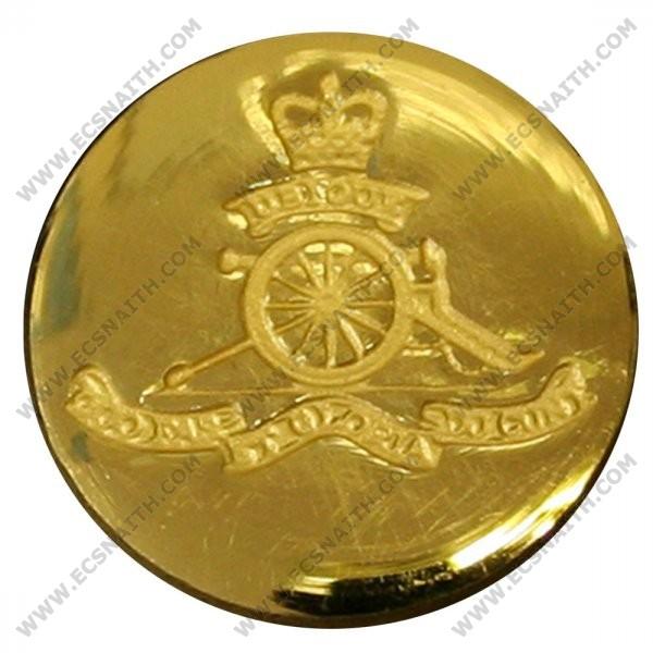 Royal Artillery Button, Blazer, Indented, Gilt (32L)