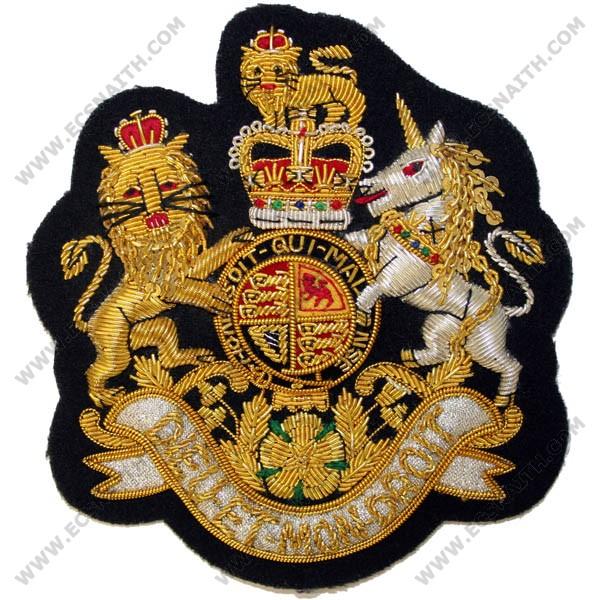 Wo1 Royal Arms On Navy Large No 1 Dress Badge Dress