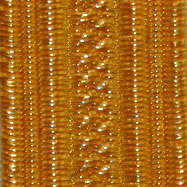 "Gold Navy Lace 6.4Mm  1/4"" 0.5%"