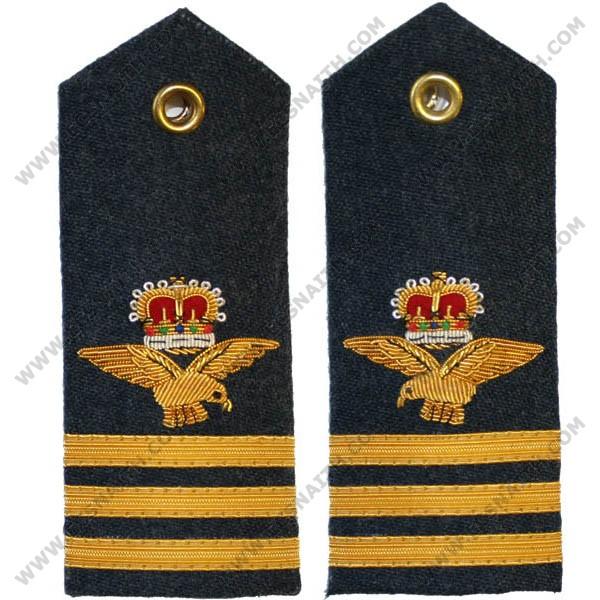 RAF Wing Commander 6A, 8, 11 Dress Shoulder Boards