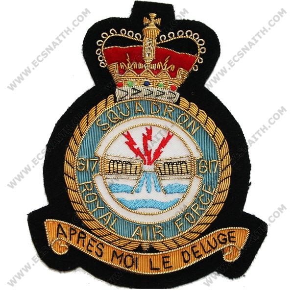 RAF 617 Sqn E11R Blazer Badge