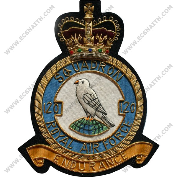 RAF 120 Sqn Wire Blazer Badge