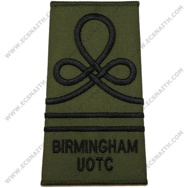 Birmingham UOTC Rank Slides, Olive Green, (SUO)