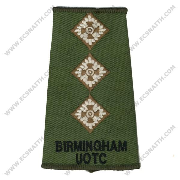 Birmingham UOTC Rank Slides, Olive Green, (Capt)