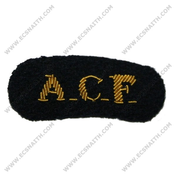 Army Cadet Force (ACF) Titles - On Navy Badge
