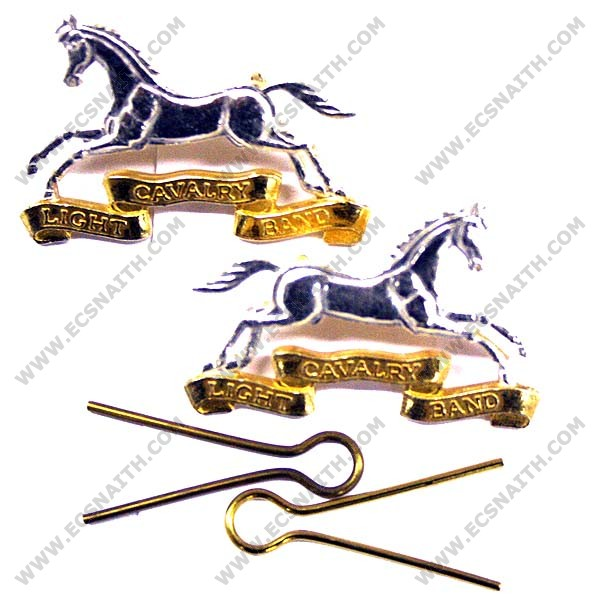Light Cavalry Band Collar Badge