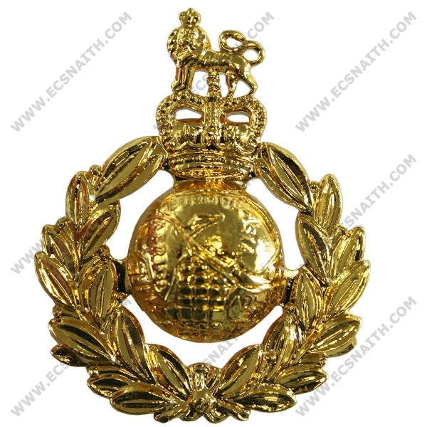 Royal Marines Cap Badge, Gilt, E11R