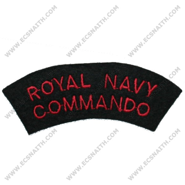 RN Commando Titles Red/Navy