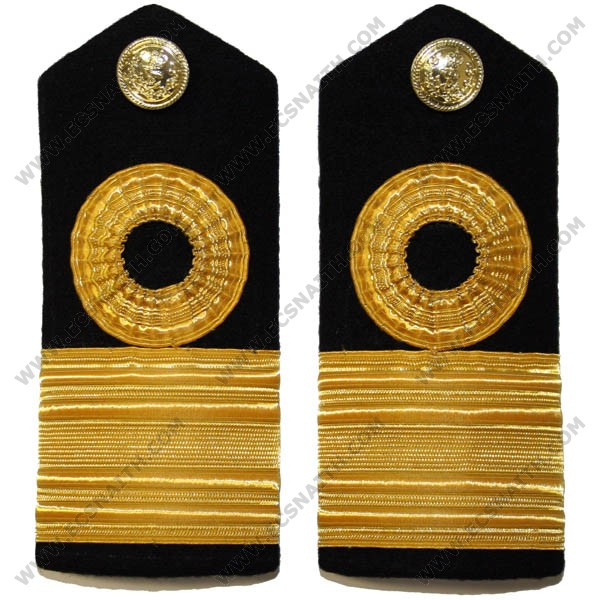RN Commodore Lace Shoulder Boards