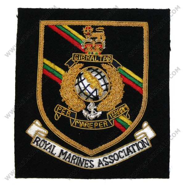 Royal Marines Association (Shield) Blazer Badge