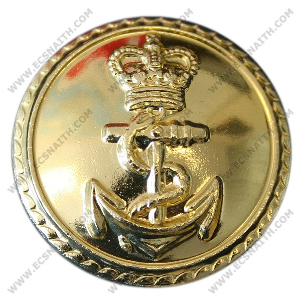 Royal Navy Button, Gilt (26L)