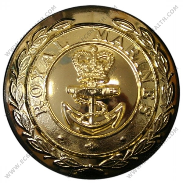 Royal Marines Button, Anodised (27L)