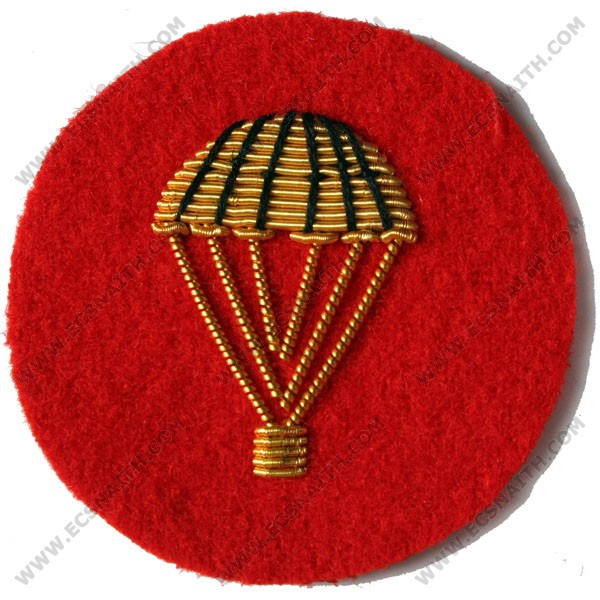Parachute Gold On Red Badge