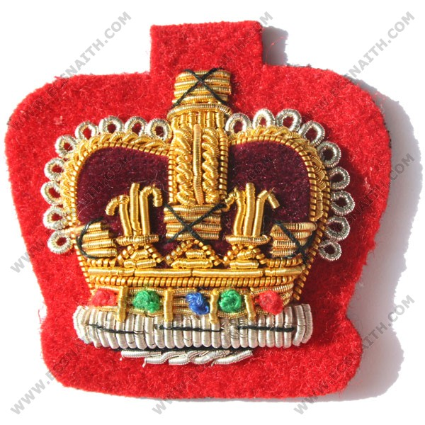 C/Sgt Gold On Red No.1 Badge