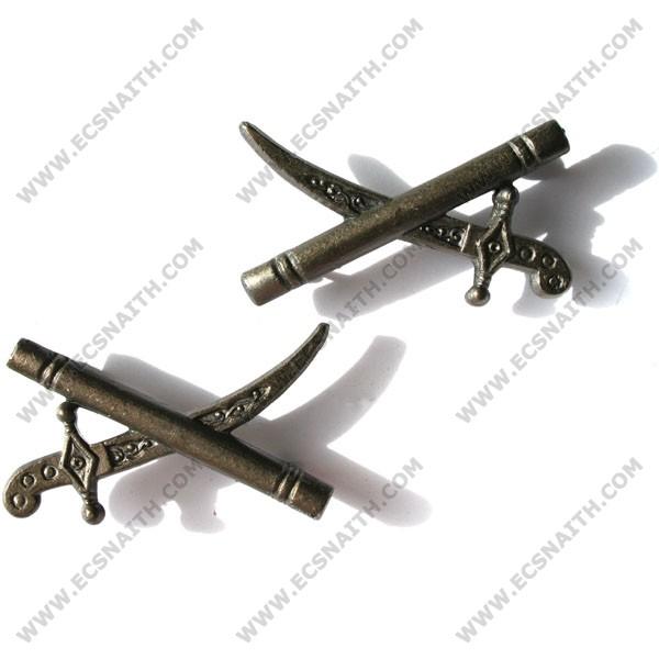 Generals Bronze Sword & Baton Badge