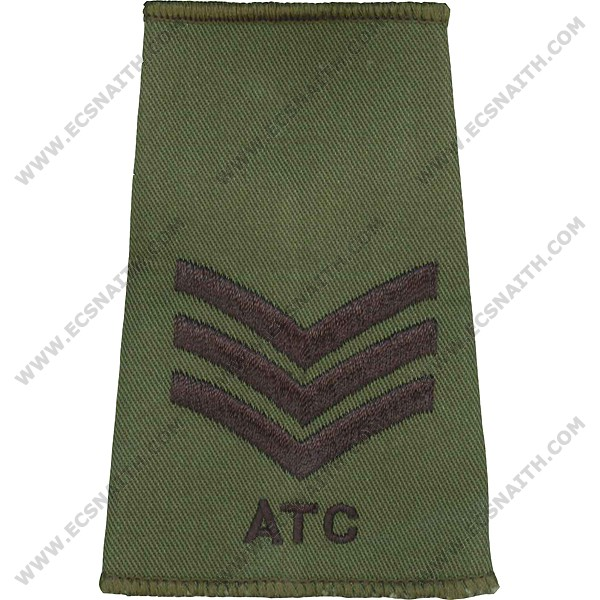 ATC Rank Slides, Olive Green, (Sgt)