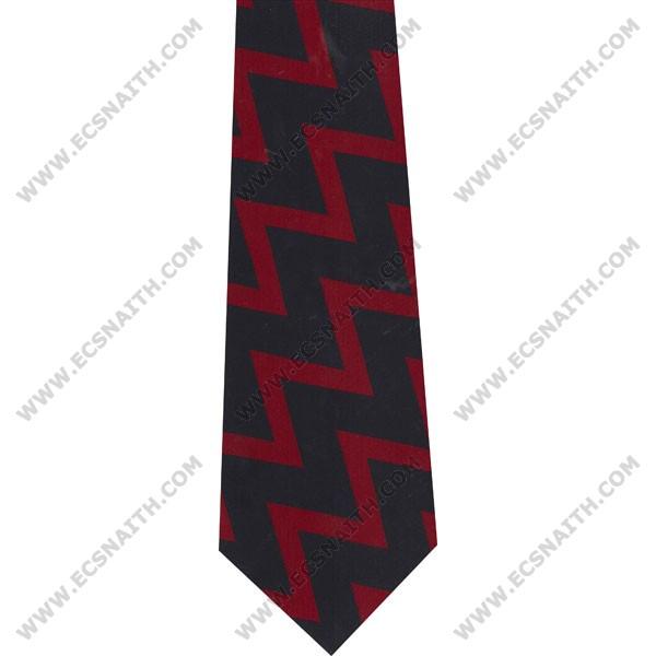 RA Polyester Zig-Zag Tie