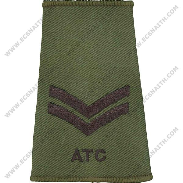 ATC Rank Slides, Olive Green, (Cpl)