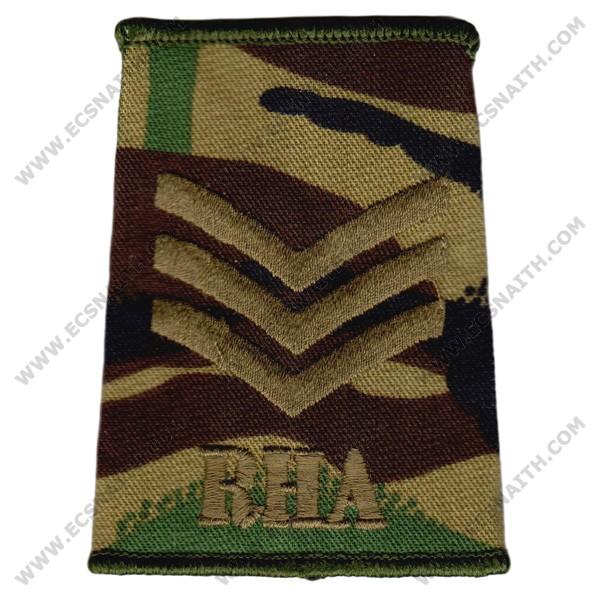 RHA Rank Slides, CS95, (Sgt)