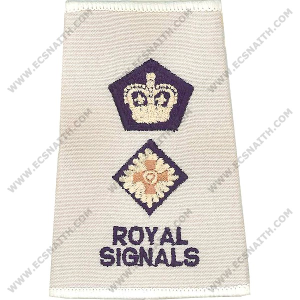R SIGS Rank Slides, Cream, (Lt/Col)