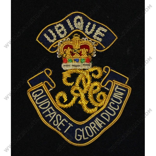 Royal Engineers Blazer Badge, Cypher, Wire