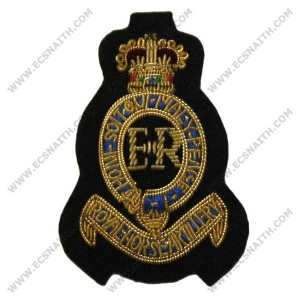 Royal Horse Artillery Beret Badge, 1, Officer, Blue