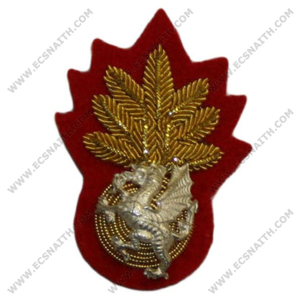 Royal Welch Fusiliers Beret Badge, Officer
