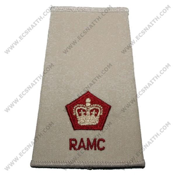 RAMC Rank Slides, Cream, (Maj)