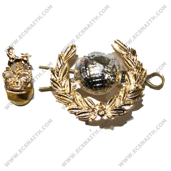Royal Marines Cap Badge, Officers, 2 Piece