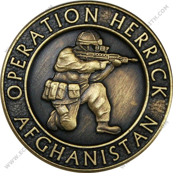 OP-HERRICK Afghanistan Bronze Relieved Blazer Button (32L)