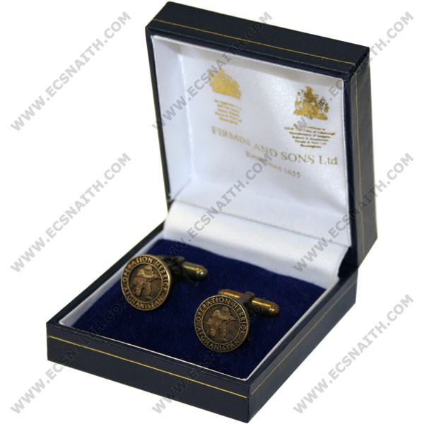OP-HERRICK Afghanistan Bronze Relieved Cufflinks