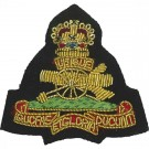 Royal Artillery Beret Badge, Officers, on Grass Green