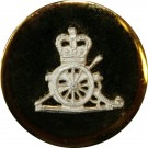 Royal Artillery Button, Blazer, Flat Mounted, Gilt (Small)