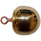 Plain Button, Ball, Polished Gun Metal (30L)