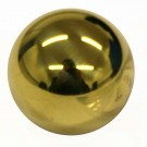 Plain Button, Ball, Polished Brass (30L)