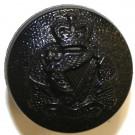 Royal Irish Regiment Button, Blazer, Black Nylon (22L)