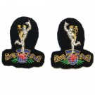 R Signals Band EMB Collar Badges
