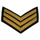 Sergeant Chevrons - Gold on Navy Mess