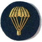 Parachute Gold On Navy Badge