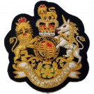 WO1 Royal Arms on Navy (Large) No.1 Dress Badge