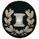 Drum Major Silver on Black Badge (Large)