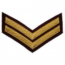 Corporal Chevron No.1 - Gold on Para Maroon