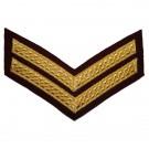 Corporal Chevron No.1 - Gold on Para Maroon