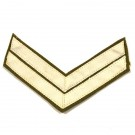 Corporal Chevron White On Khaki