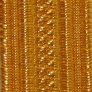 """Gold Navy Lace 6.4Mm  1/4"""" 0.5%"""