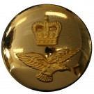 Royal Air Force Button, Mounted, Gilt (22L)