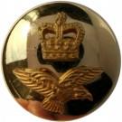 Royal Air Force Button, Mounted, Gilt, Long Shank (22L)