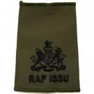RAF Rank Slides, Olive Green, (WO), ISSU