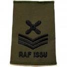 RAF Rank Slides, Olive Green, (C/Tech), ISSU